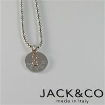 COLLANA A PALLINE IN ARGENTO 925 JACK&CO CON INFINITO IN ORO ROSA 9KT JCN0548  image 1