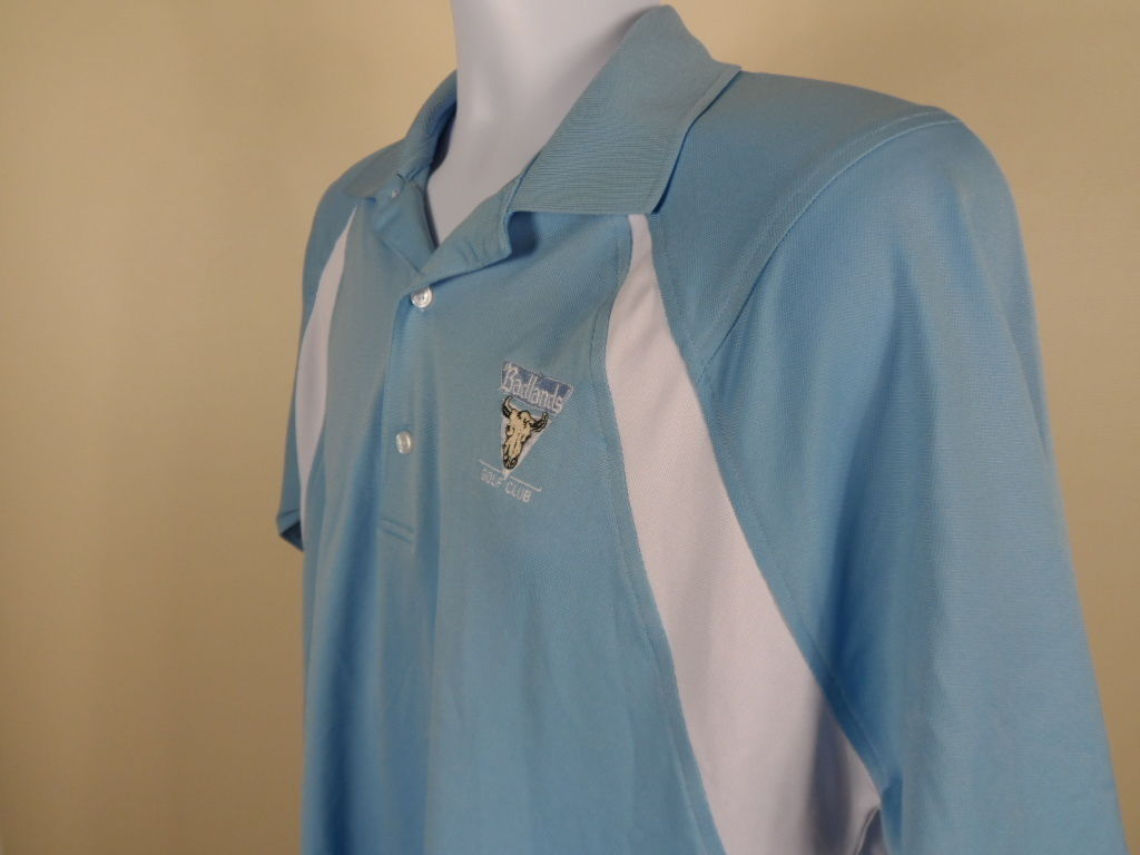 Greg Norman Badlands Golf Club Polo Shirt Size M Medium Las Vegas Elite