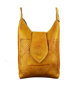 Vintage Leather Shoulder Bag Tote Crossbody Shoulder Bag Handmade Boho Bag - $54.95