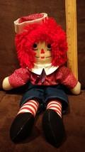 Vintage RAGGEDY ANN 16 inch Plush Doll - Classic Style Toy - $9.99