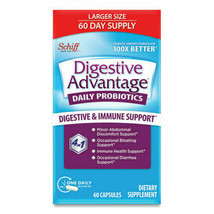 Schiff Digestive Advantage Daily Probiotic Capsules 60 ea. Exp. 04/2024 - $18.80