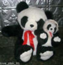 """11"""" Vintage Infantil de América Corp Panda Oso Peluche con / Bebé - $28.96"""