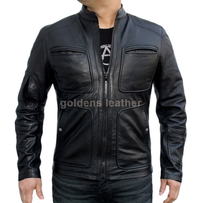 New Men's Stylish Lambskin Genuine Leather Motorcycle Biker Slim Fit Jacket GN26