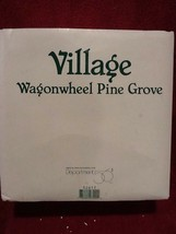 Dept 56 Village Accessories - Wagonwheel Pine Grove - #52617 - EUC - $11.95