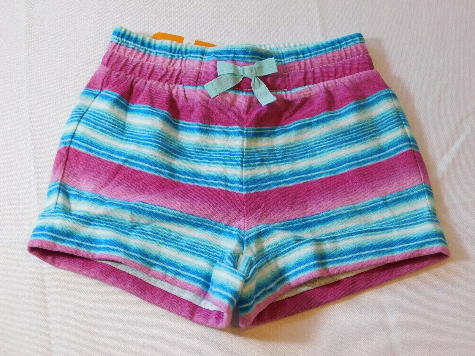 Primary image for Gymboree Baby Girl's Short Shorts 6-12 Months 17GYSM4 Striped Pink Aqua NWT