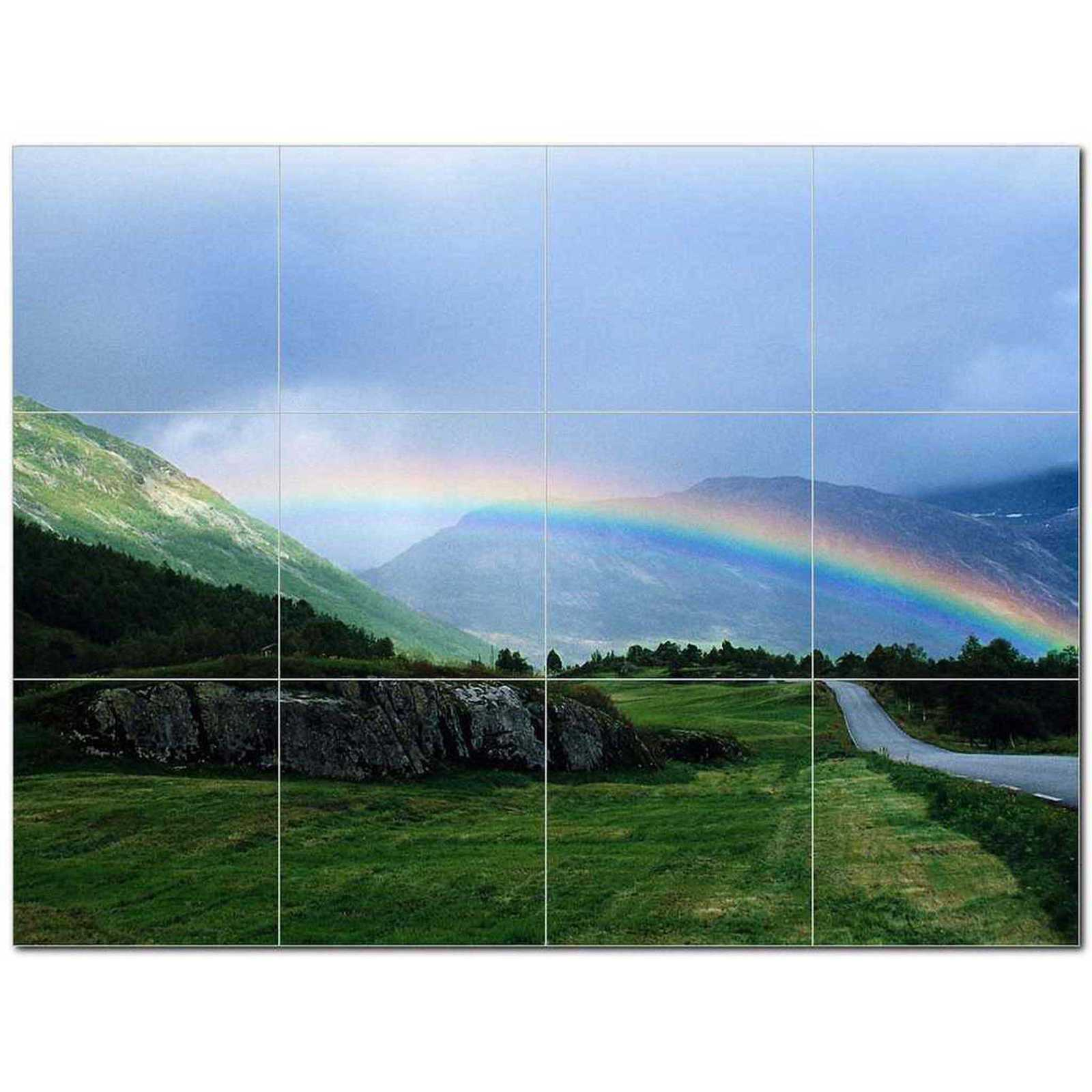 Primary image for Rainbow Photo Ceramic Tile Mural Kitchen Backsplash Bathroom Shower BAZ405694
