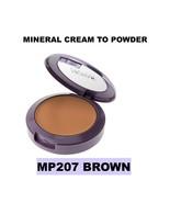 NICKA K NEW YORK MINERAL CREAM TO POWDER MP207 BROWN TALC & OIL FREE - $3.95
