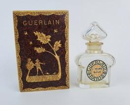 Vintage Guerlain Paris L'Heure Bleue Perfume Bottle Baccarat Crystal 1/3... - $67.31