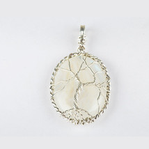 Wired Rainbow Moonstone Pendant,Sterling Silver Pendant,Rainbow Moonstone - $54.00