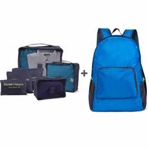 6 Pcs/set Packing Cubes + Foldable Backpack for Travelers - £15.65 GBP