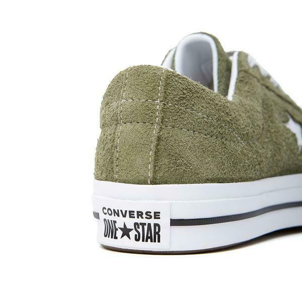 Converse Mens One Star Ox Suede 161576C Field Surplus (Olive) / White Size 9 image 6