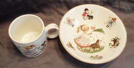 Vintage Child's Arklow Ireland Little Bo Peep Nursery Rhyme Mug & Bowl - $22.00