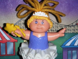 Cabbage Patch Kids Miniature Doll CPK 1992 Ballerina Doll Purple White Star Wand - $2.96