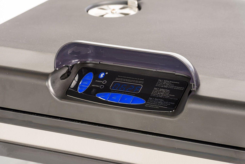 "Masterbuilt 40"" Bluetooth Smart Digital Electric Wood Chip Smoker & BBQ Tool Set"