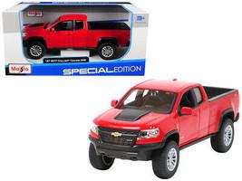 2017 Chevrolet Colorado ZR2 Pickup Truck Red 1/27 Diecast Model Car by Maisto - $44.35