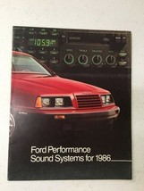 1986 Brochure flyer Ford Performance Sound Systems - $14.99