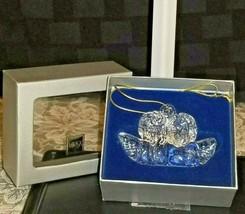 "MIKASA Heavenly Music Double Angel 3"" Crystal Ornament; Raphaels Angels  - $19.80"