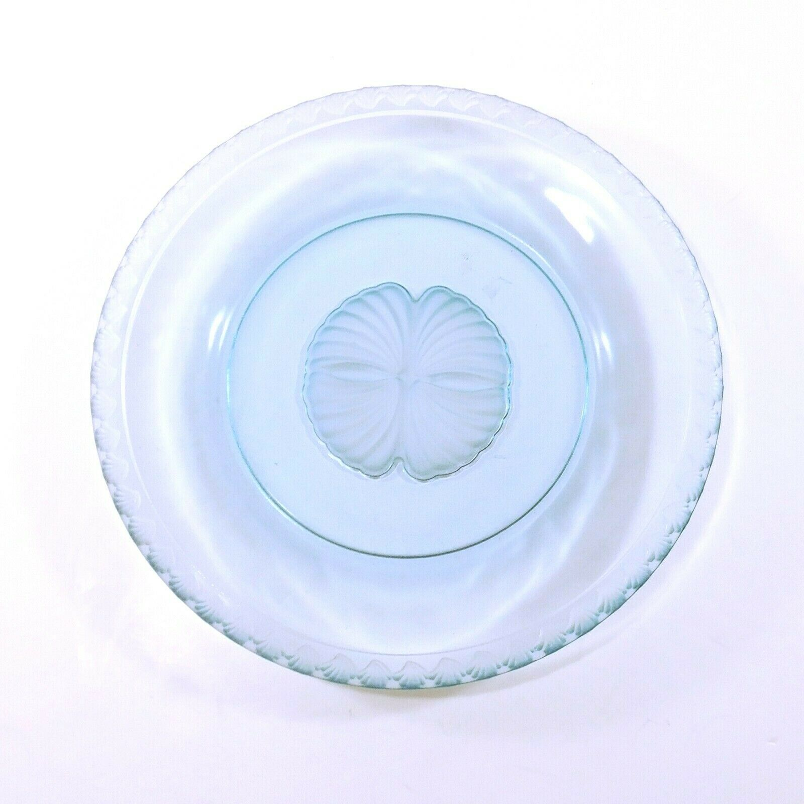 Primary image for Fostoria CAPTIVA SHELL Luncheon / Salad Plate Blue Glass 8""
