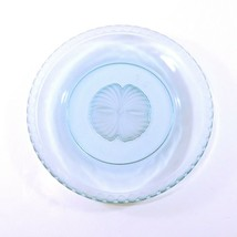 "Fostoria CAPTIVA SHELL Luncheon / Salad Plate Blue Glass 8"" - $12.50"