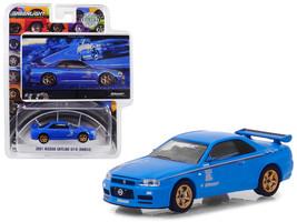2001 Nissan Skyline GT-R (BNR34) Blue Track Meat BFGoodrich Vintage Ad Cars Hobb - $13.99