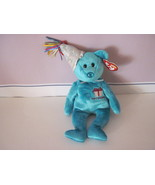 Ty Beanie Baby Birthday December Celebration Bear - $5.99