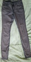 Juicy Couture Skinny Stretch Womens Jeans Size S Blue Gray faded look Ac... - $1.97