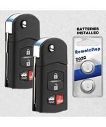 2 For 09 2010 2011 2012 2013 Mazda 6 Keyless Entry Car Flip Remote Key Fob - $31.55