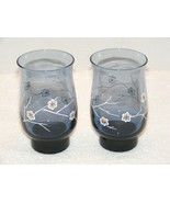 """LIBBEY BLUE SPRING CRAZY DAISY 5.25"""" TUMBLER DRINK GLASSES SET OF 2 GUC - $14.99"""