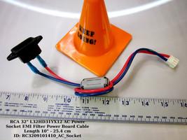 "RCA 32"" L32HD31YX12 AC Power Socket EMI Filter Power Board Cable Length 10"" - $11.30"