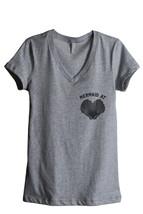 Thread Tank Mermaid At Heart Women's Relaxed V-Neck T-Shirt Tee Heather Grey - $24.99+