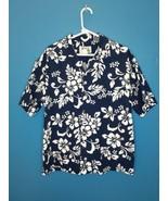KY'S Made in Hawaii Blue Hawaiian Floral Button-Up Shirt XL - $24.75