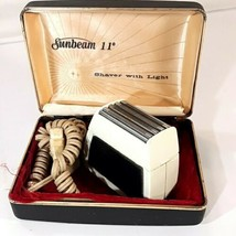 Vintage Sunbeam Electric Mens Shaver Razor Case 11 Degree 53-19538 Tested works - $16.95