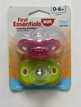 NUK First Essentials Calming Pacifiers 0-6 mon Pink Green - $9.49