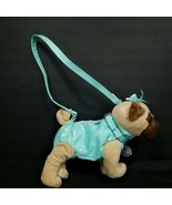 Poochie & Co Dog Purse Blue Green Confetti Outfit Pug French Bulldog Seq... - $18.80