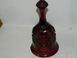 "Avon 1876 Cape Cod Ruby Red Glass HOSTESS BELL 6-3/4"" Tall  - $9.49"