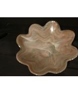 Scalloped Rim Art Glass Bowl - $33.00