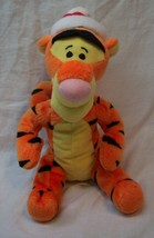 "Disney Winnie The Pooh Tigger W/ Santa Or Winter Hat 7"" B EAN Bag Stuffed Animal - $14.85"