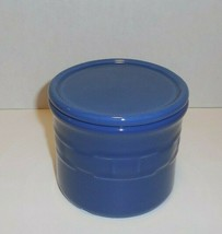 Longaberger Pottery One 1 Pint Salt Crock Cornflower Blue USA New Nib - $19.75