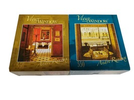 Roseart View through the Window Jigsaw Puzzles Lot of 2 550 pcs En Rouge Interie - $9.89