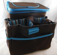 Collapsible Thermos Picnic Basket with storage for Glasses Bottles and P... - $339,63 MXN