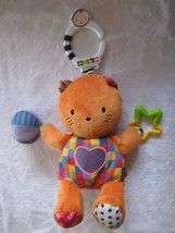 2009 KIDS PREFERRED ORANGE KITTY CAT KITTEN HEART CRINKLE RATTLE CLIP ON... - $24.74