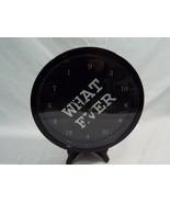 """Cafe Press Decorative Wall Clock White + Black Fun """"WhatEver"""" Design 9"""" ... - $12.46"""