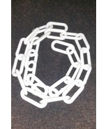 2 Feet White Plastic Chain Great For Craft Projects and Much More - $0.99