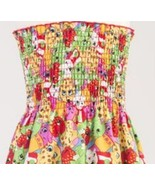 Shopkins Smocked Cotton Fabric Make your own Dress Sewing Fabric  - £15.80 GBP