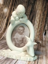 """Department 56 Snowbabies """"Baby's First Smile"""" Picture Frame 6846 Penguin... - $18.76"""