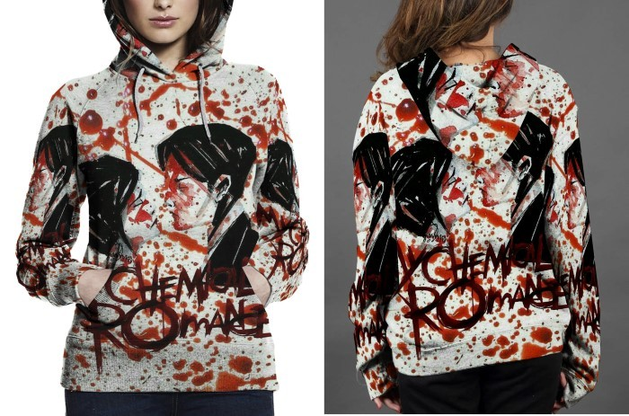 My chemical romance hoodie fullprint for women