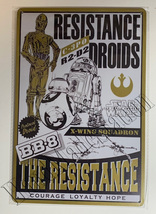 "Star Wars C-3PO BB-8 R2-D2 X-Wing Wall Metal Sign plate Home decor 11.75"" x 7.8"""