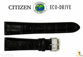 Citizen Eco-Drive AO9000-06B 22mm Black Leather Watch Band Strap S079756 - $64.95