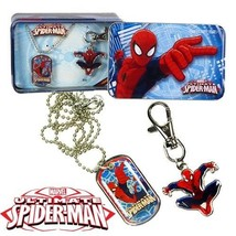 Spiderman Keychain & Dog Tag Marvel Collectible Set in Tin (Pack of 12 S... - $44.50