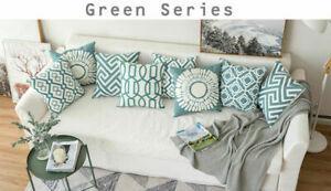 Stripe Pillowcase Cushion Case Home Decoration Cotton Linen Cushion Cover Gift